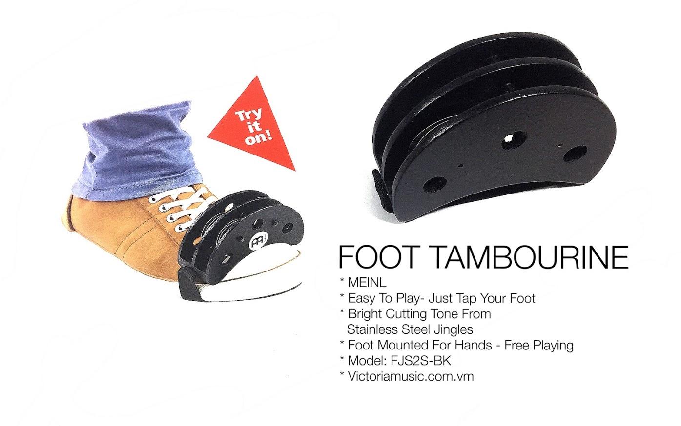 foot tambourine Fjs2s-BK